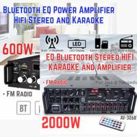 Power Amplifier Bluetooth Home Theater Karaoke 2000W 600W Junejour