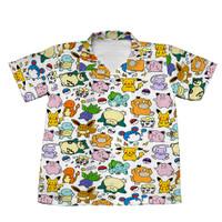 Baju Kemeja Anak Laki-laki Fullprint Pokemon Pattern KMAD-22