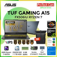 ASUS TUF GAMING A15 FX506IU RYZEN 7 4800H 8GB 256GB+1TB GTX1660Ti 6GB