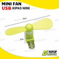 Kipas Angin USB Mini Fan Baling Portable Power Bank