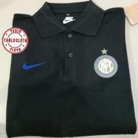 Polo shirt Pria kaos kerah Nike Intermilan