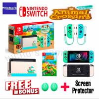 Nintendo Switch V2 Animal crossing limited edition - tanpa game