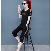 pakaian wanita Import terbaru Setelan Baju+Celana M-XL