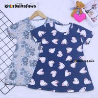 Dress Amirah uk 1-2 th / Lengan Baju Tidur Balita Anak Perempuan Adem