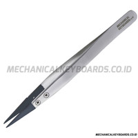 MKID ESD Replaceable Straight Tip Stainless Steel Tweezers (ESD-259)