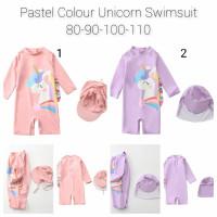 unicorn kids swimwear, baju renang anak bayi unicorn, baby swimwear