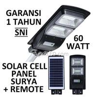 Lampu Jalan PJU LED Solar Cell 60W Panel Surya SOROT 60 WATT SolarCell