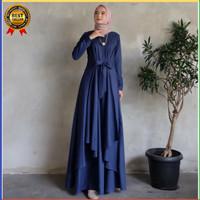 Gamis Wanita Dewasa Gaun Pengantin Kombinasi Brukat Baju Muslim Trendy