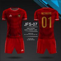 setelan Jersey dan celana timnas futsal indonesia baju kaos bola