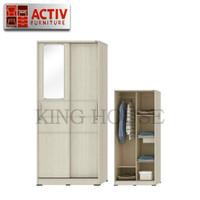 Lemari Pakaian / Baju 2 pintu Sliding Cermin activ