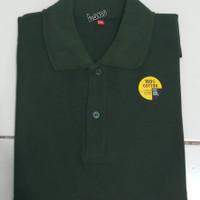 baju kaos polos Polo shirt kerah pria dan wanita - hijau army