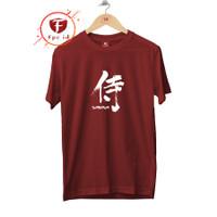 Kaos Tulisan Jepang Samurai - Baju Kaos Jepang Cewek Cowok Fpc_id