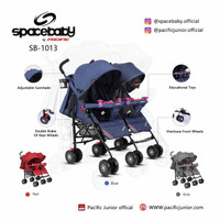 Baby Stoller SPACEBABY SB 1013 Kembar-Twins By Pacific