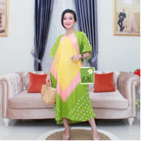 Daster Lowo Jumputan Kayla Daster / Kasual / Baju Batik / Wanita - Hijau Muda, AllSize