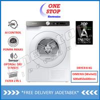 SAMSUNG DV80T5220TT Mesin Pengering / Dryer with AI Control 8 KG