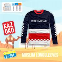 Baju Kaos Anak Cowok Laki Laki Longsleeve Lengan Pajang Usia 10-12 thn