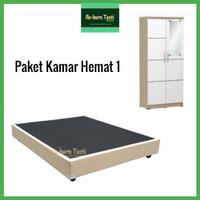Divan lemari pakaian baju minimalis dipan Re-born Tech® Paket Kamar 1