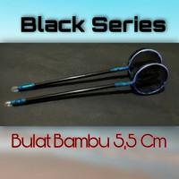 Serokan Saringan Ikan Cupang Guppy Black Series Bulat 5,5 cm Bambu