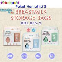 Paket isi 3 Kandila KDL005-2 Breastmilk Storage Bag Kantong ASI 120ml