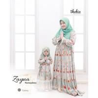 Set baju dress ibu anak couple muslim perempuan terbaru premium ZAYNA