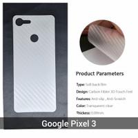 Anti Gores Google Pixel 3 Pelindung Belakang Film 3D skin carbon