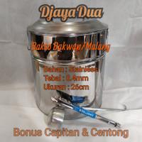 Dandang Bakso Bakwan/Malang Uk.26x26 tebal 0.4mm Bonus capit & centong