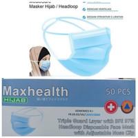 Masker SENSI Hijab / Headloop 3 Ply isi 40 Pcs / Masker Medis SENSI