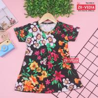 Dress Amirah Bayi uk 0-12 Bulan / Baju Bayi Perempuan Bahan Kaos Adem