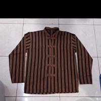 Baju Surjan Lurik - Baju Lurik Model China - Baju Koko Lurik
