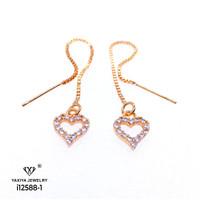 Anting Wanita Permata Love Perhiasan Lapis Emas 18k yaxiya jewelry 788