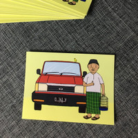 Sticker Artbox Toyota Kijang Super Kesayangan Wak Haji Syamsudin