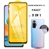 Tempered Glass 2 in1 Xiaomi Redmi Note 10 Anti Gores Kaca + Garskin