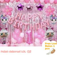 Paket Dekorasi Balon Ulang Tahun / Happy Birthday Tema LOL Surprise 03