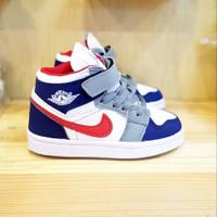 Sepatu Anak Nike Air Jordan 1 Retro Red Blue Grade Original