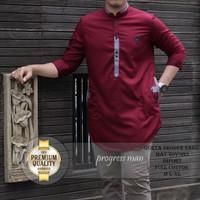Beli baju kurta / baju koko / kurta pakistan / baju muslim / maroon
