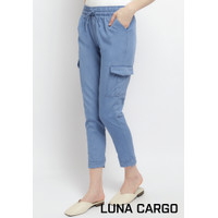 DCW celana denim jeans wanita cargo kargo jogger joger