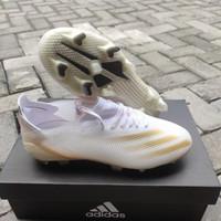 Sepatu Bola Adidas X 1 Ghosted White Gold Fg - Sepatu Soccer Adidas