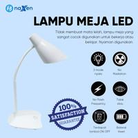Naxen Lampu Meja Lampu Belajar 16 LED 3 Mode Sentuh Rechargeable