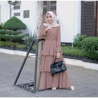 Gamis Syari Dress Wanita Muslim Jubah Cewek Set Busana Muslimah Keren