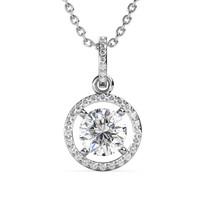 Fantaisie Pendant - Kalung Moissanite diamond Celesta by Her Jewellery