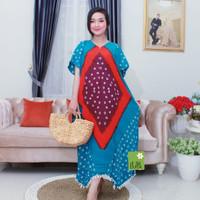 Daster Jumputan Kayla Daster / Kasual / Baju Batik / Wanita / Murah - Biru, AllSize
