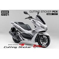 Cutting Sticker PCX 160 Hitam Abu2 - Kode NW01