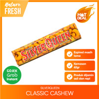 SilverQueen Cashew Almond Fruit Crispy Dark White Coklat Classic - Cashew