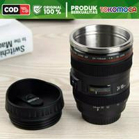 Gelas Tumbler Bentuk Lensa Kamera Mug Cangkir Gelas Unik Mug Unik 400m