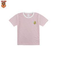 MacBear Baju Anak Laki-laki Kaos Stripe-A-Holic Collection Dino - Merah, SIZE 4