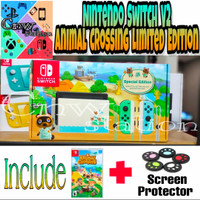 Nintendo Switch V2 Animal Crossing Limited Edition - Tanpa game