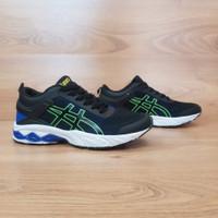 sepatu olahraga pria asic original sepatu cowok badminton voli tenis - Navy Green, 39