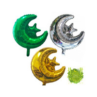 Hiasan Lebaran Murah Balon Foil Bulan Bintang Ornament Idul Fitri 5710