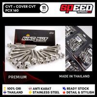 Probolt Baut CVT Dan Cover CVT Honda PCX 160 Premium Stainless King Nu