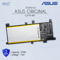 Baterai original Laptop ASUS A455L X455L A455LN A455LD - C21N1401